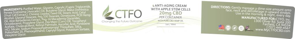 Anti-Aging Cream with Apple Stem Cells