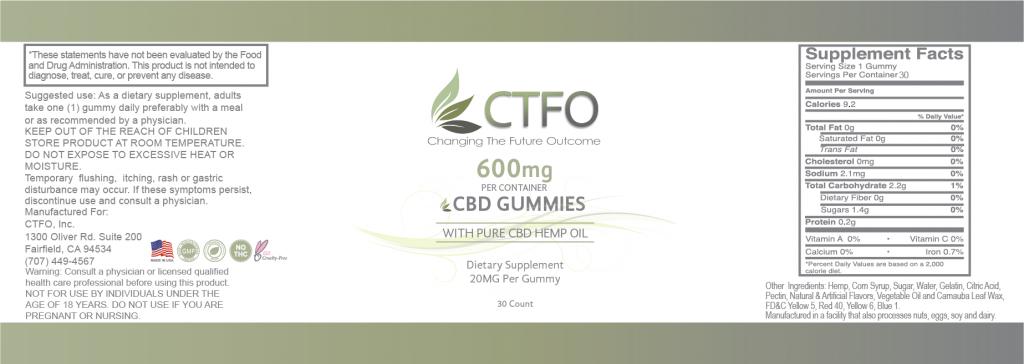 CBD Gummies - 30 Count