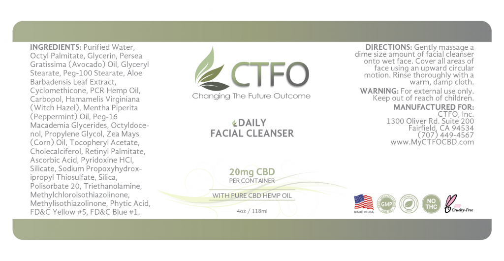 CBD Daily Facial Cleanser