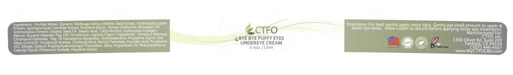NON CBD Bye Bye Puffy Eyes Under Eye Cream