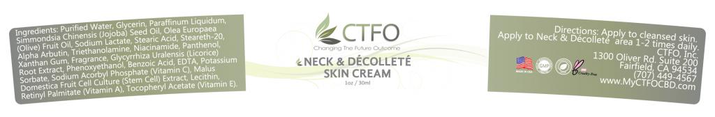 NON CBD Neck & Décolleté Cream