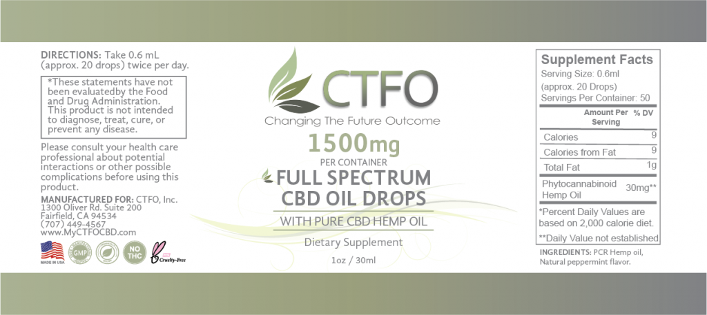 Full Spectrum CBD Oil Drops - 1500mg