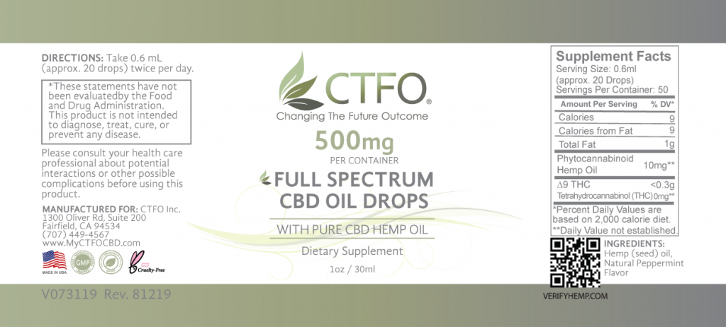 Full Spectrum CBD Oil Drops - 500mg