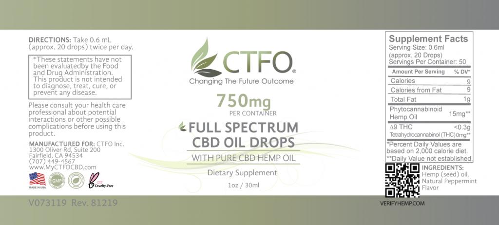 Full Spectrum CBD Oil Drops - 750mg