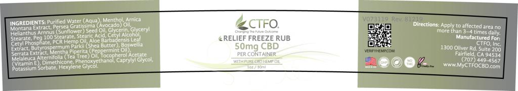 Relief Freeze Rub - 1oz