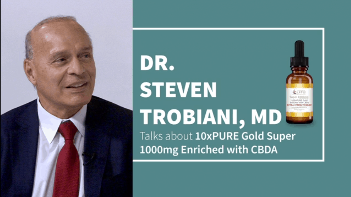 Dr Steven Trobiani recommends 10xPURE Super 1000 for back pain