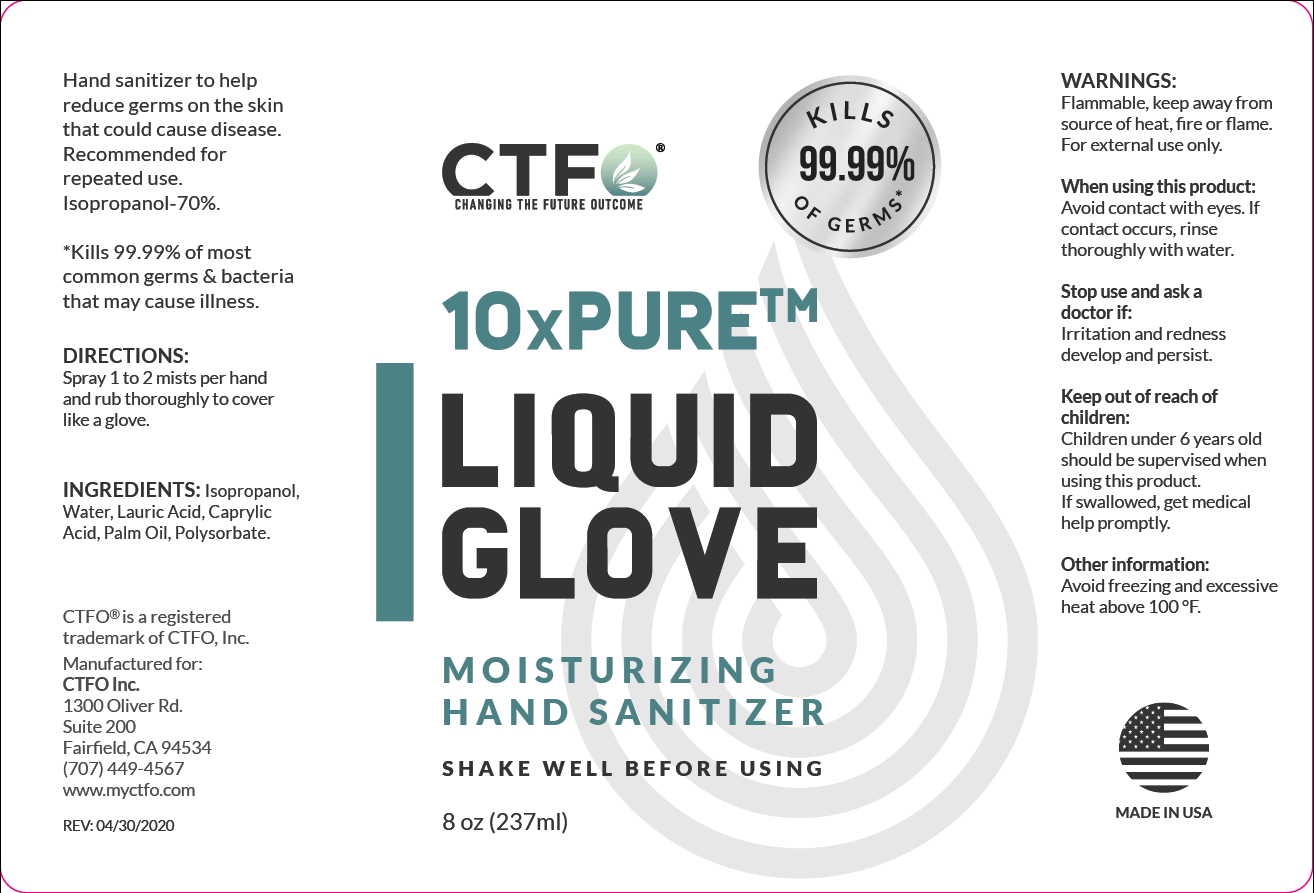 10xPURE Liquid Glove Moisturizing Hand Sanitizer