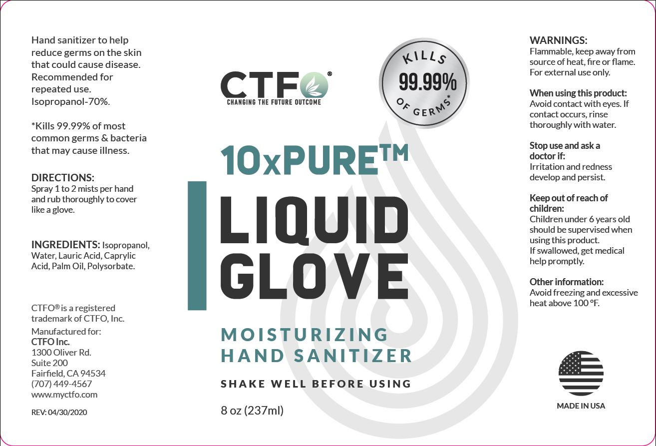 10xPURE Liquid Glove Moisturizing Hand Sanitizer