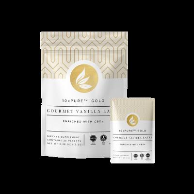 10xPURE™-GOLD Gourmet Vanilla Latte with CBDa