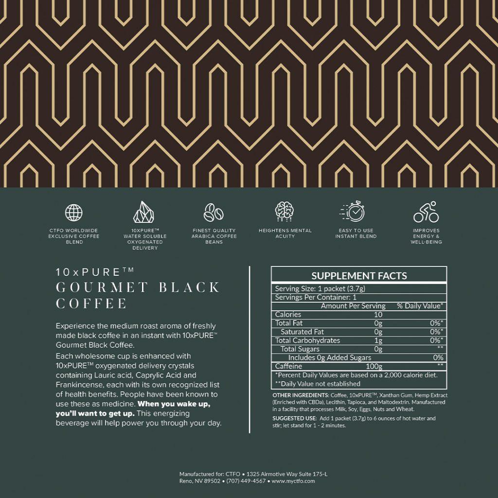 10xPURE Gourmet Black Coffee