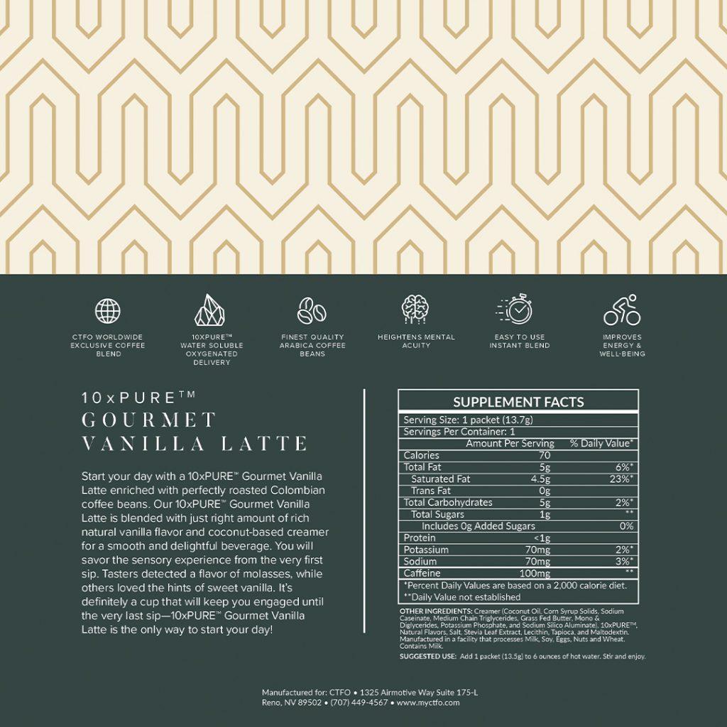 10xPURE Gourmet Vanilla Latte